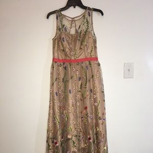 Adrianna Papell Floral High low gown